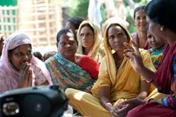 Women listening to a radio programme