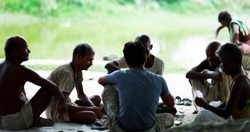 A group of Bihari men